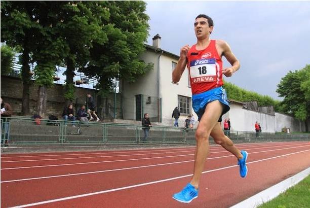Hassan Chahdi au France sur 10 000 m en avril 2014 (Photo Yves-Marie Quemener)