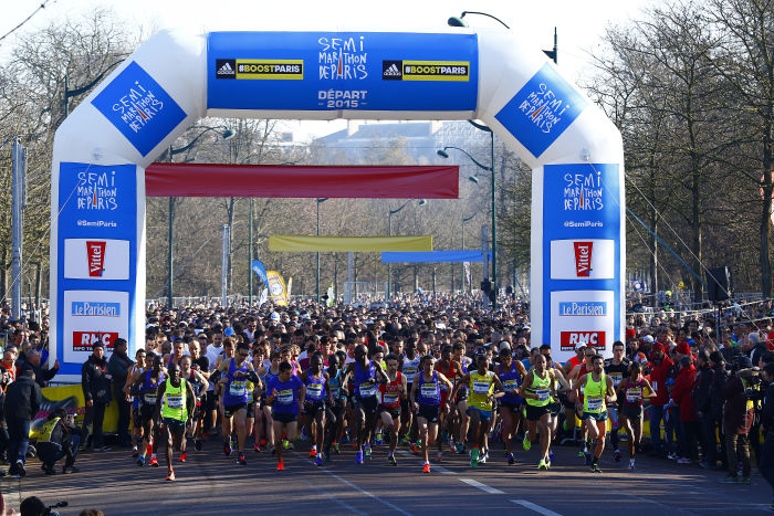 Semi-Marathon de Paris - 08/03/2014 - Paris - France - depart