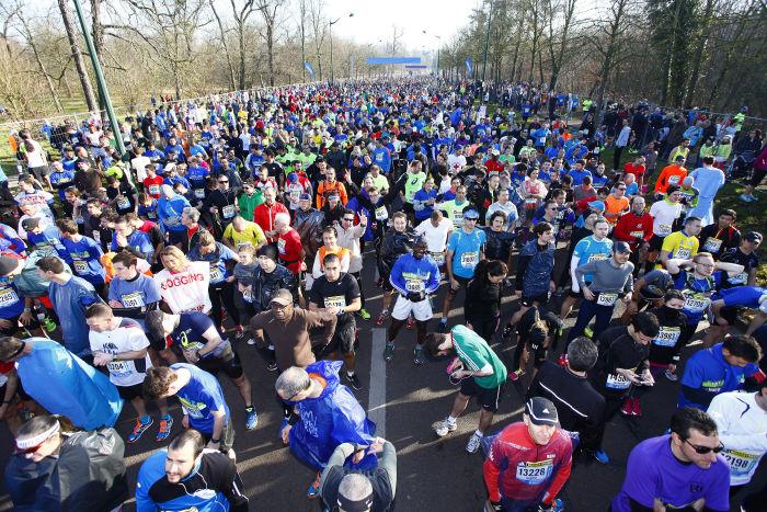 Semi-Marathon de Paris - 08/03/2014 - Paris - France - Avant depart