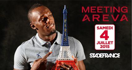 Usain Bolt, qui sera à Paris en juillet prochain pour le meeting Areva, sera en lice sur les 4x100 et 4x200 m