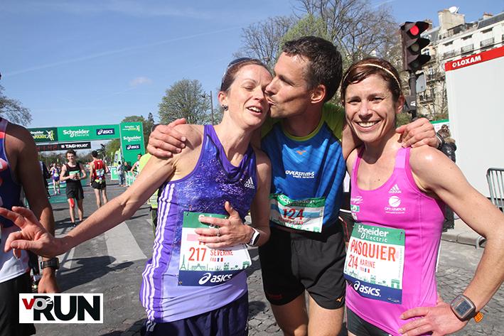 Avec Karine Pasquier, qui a brillamment battu son record personnel - Photo Yves-Marie Quemener