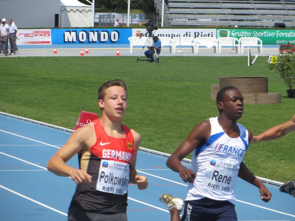 Marvin René aux championnats d'Europe juniors à Rieti (Photo Q.G)