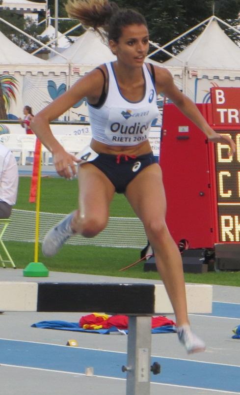 Emma Oudiou lors des Europe juniors à Rieti en 2013 - Photo Q.G