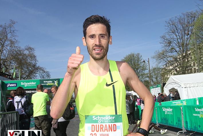 A l'arrivée du marathon de Paris (Photo Jean-Marc Mouchet)