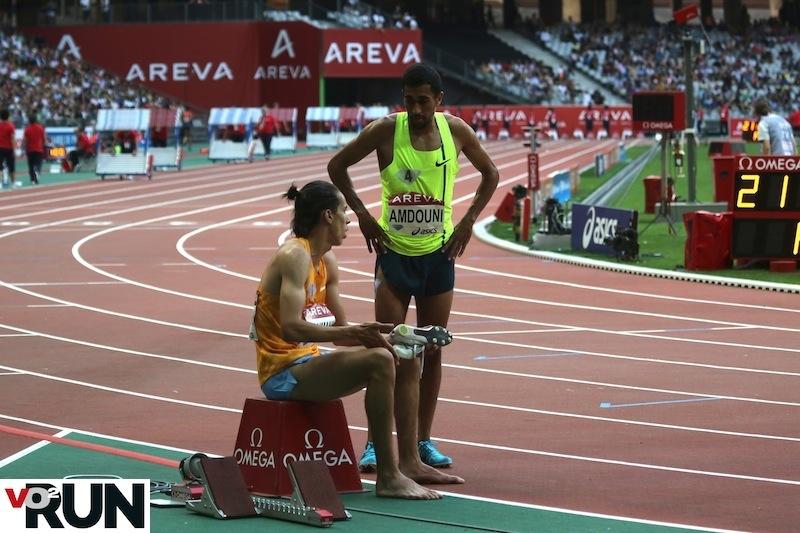 Samir Dahmani et Morhad Amdouni après leur 1 500 m au meeting Areva (Photo Jean-Marc Mouchet)