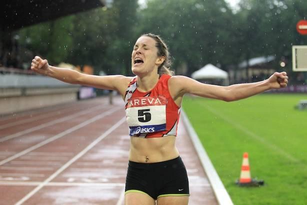 Laure Funten, championne de France du 10 000 m en 2014, est entraînée par David Grard (Photo Yves-Marie Quemener)