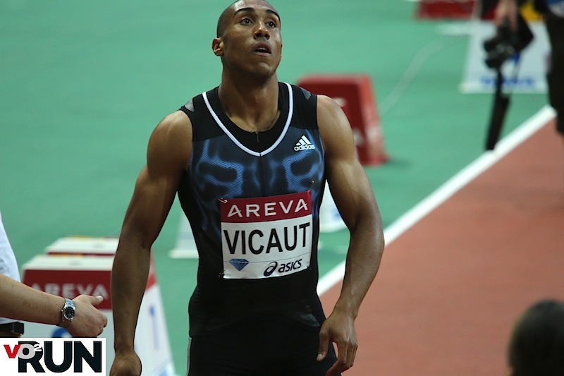 Jimmy Vicaut au meeting Areva lors de son record d'Europe égalé (Photo Jean-Marc Mouchet)
