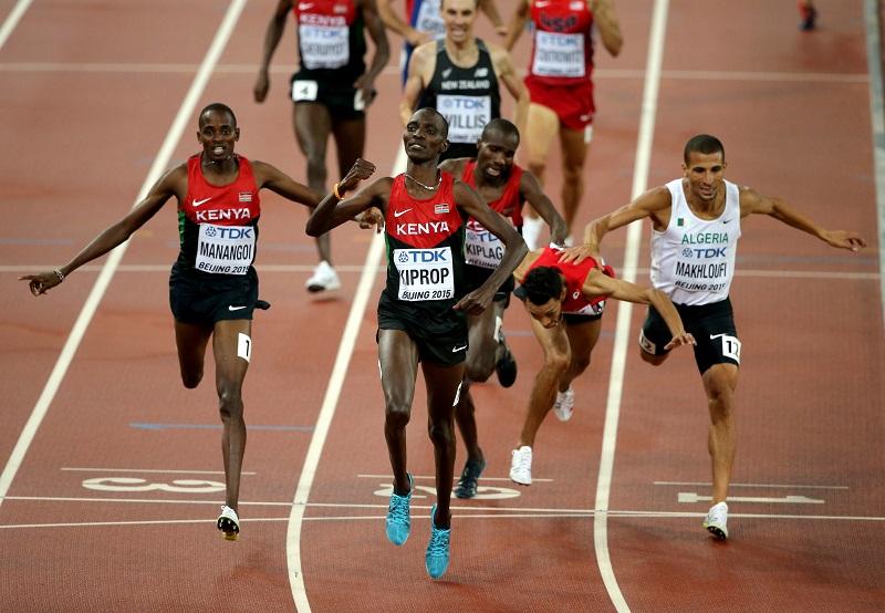 Kiprop, l'un des sept médaillés d'or kényans - Photo © Getty Images for IAAF