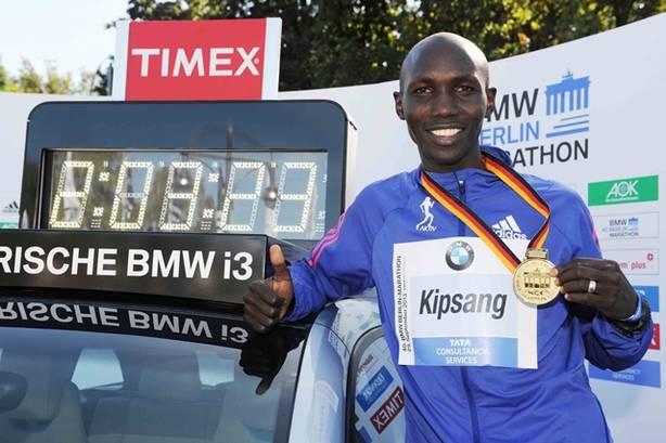 Wilson Kipsang lors de son record du Monde en 2013 (SCC EVENTS/PHOTORUN)