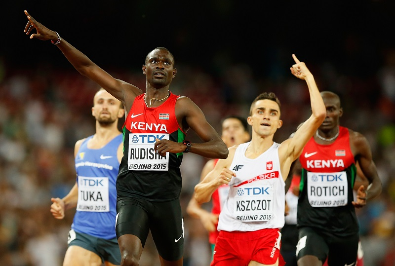 David Rudisha, champion du Monde du 800 m à Pékin, va t-il affoler les chronos à Bruxelles ? Photo Getty Images for IAAF