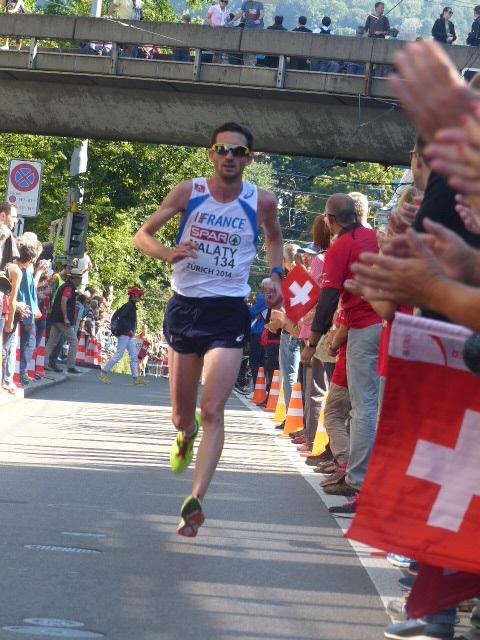 Benjamin Malaty aux championnats d'Europe de Zurich en août 2014 (Photo Q.G)