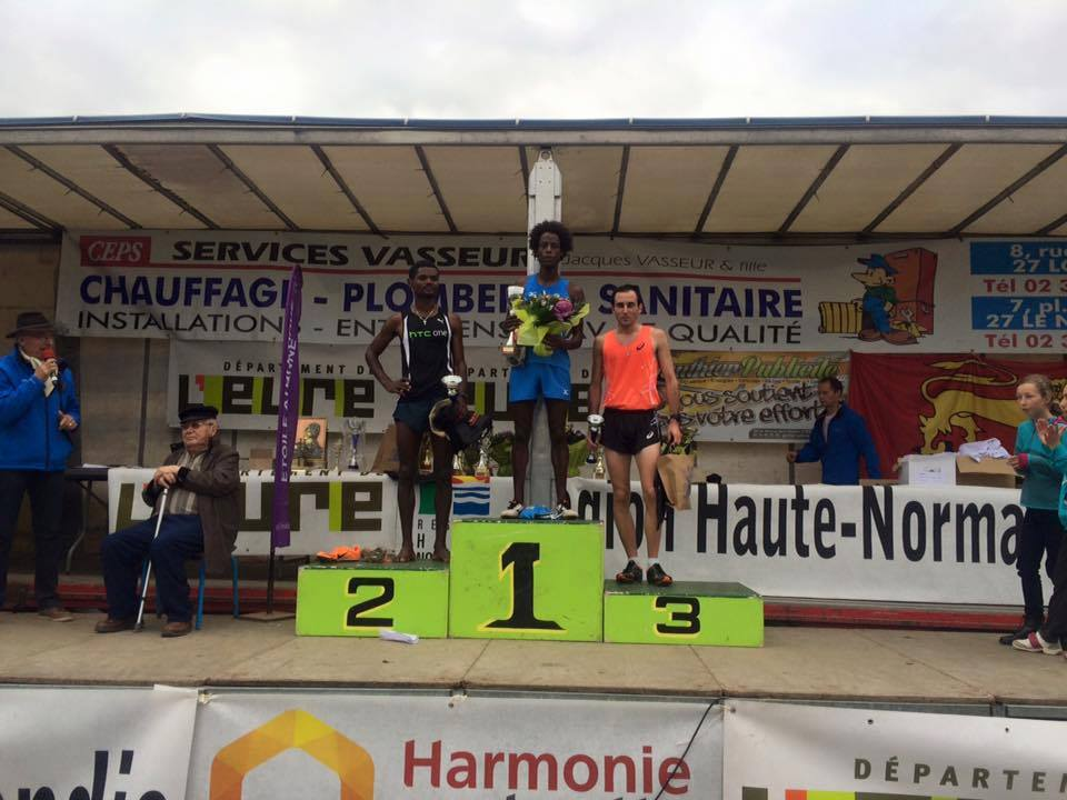 Le podium du cross Carrington à Louviers (Photo Facebook Day Running)