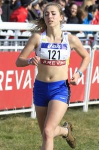 Johanna Geyer-Carles lors de son titre chez les juniors en 2013 à Lignières en Berry (Photo Gilles Bertrand)