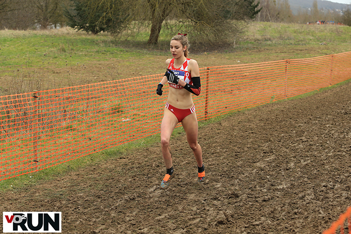 Cassandre Beaugrand aux championnats de France de cross (Photo Yves-Marie Quemener)