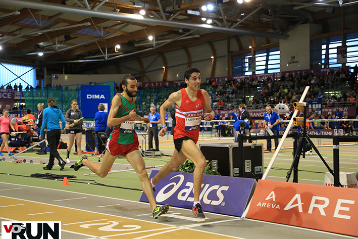 Alexandre Saddedine, 2e l'an passé du 3 000 m, devant Mehdi Akaouch