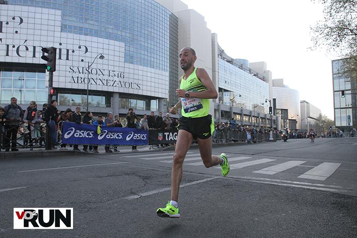 Badredine Zioini au marathon de Paris en 2015