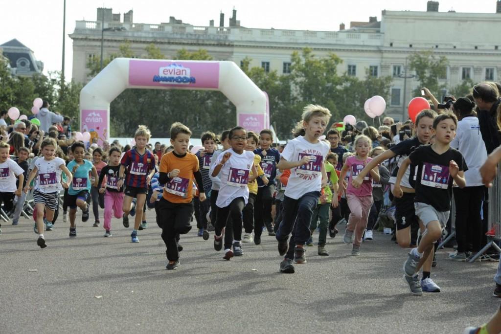 Evian Marathoon's runners