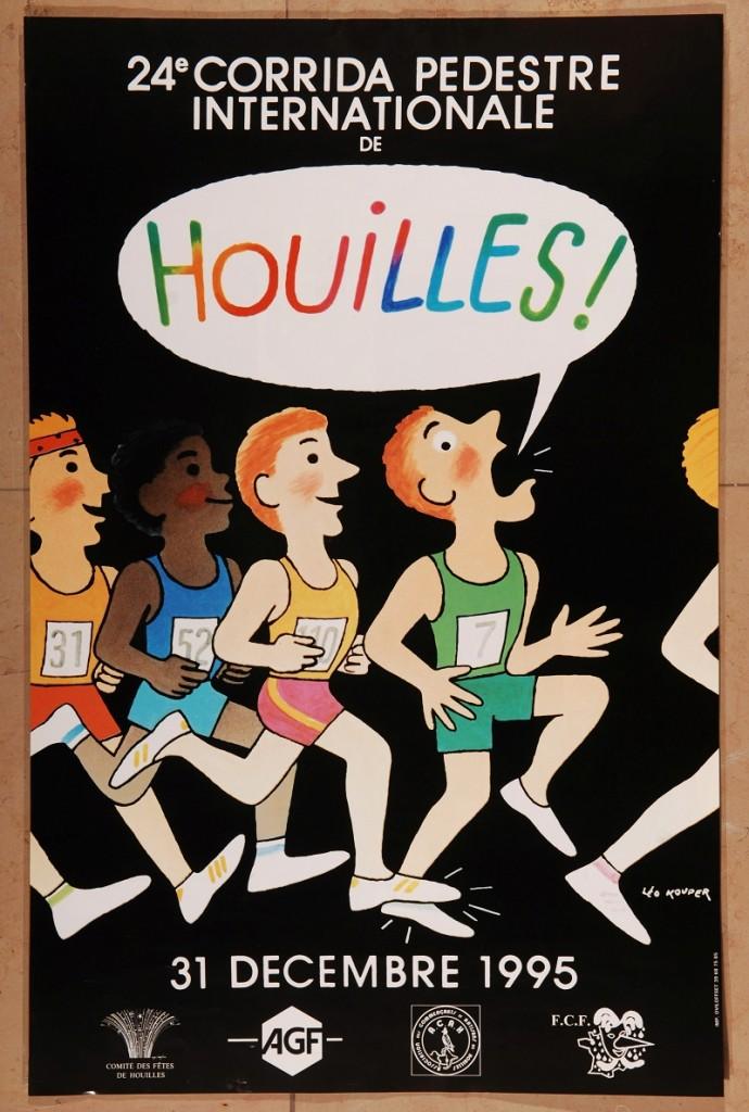 La première affiche réalisée par Léo Kouper pour la corrida de Houilles