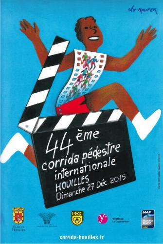 Léo Kouper a conçu l'affiche de l'édition 2015 de la corrida de Houilles