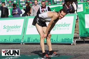 A l'arrivée du marathon de Paris l'an passé