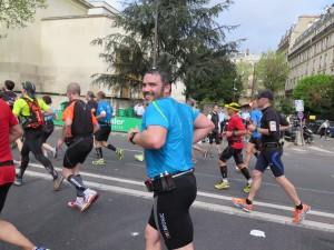 Km 31 au marathon de Paris 2014