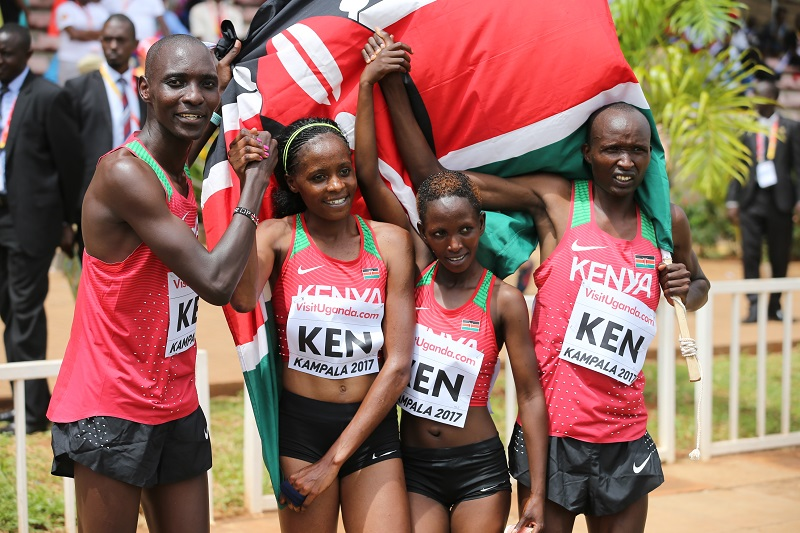 Mixed_Relay_winners_KENYA-Asbel_Kiprop-Beatrice_Chepkoech-Winnie_Mbithe-Bernard_Koros-by-Roger-Sedres